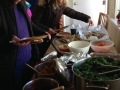 The visitors enjoy gentle food for the season